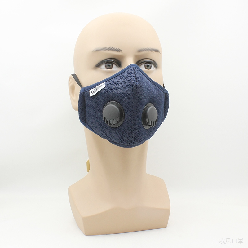 KN95 Double Breathing Replaceable Filter Professional PM2 5 Valve Mask